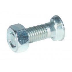 Śruba 2-noskowa z łbem owalnym kl. 8.8, M12x30 mm z nakrętką