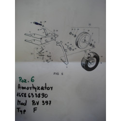 Amortyzator koła pługa OVERUM CV CVX 41658634050 46658633860