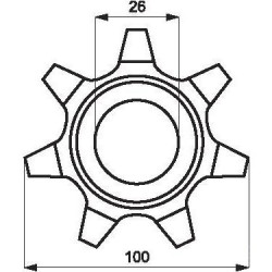 Zębatka elewatora Claas  Z7-fi26 steroidalna  503030