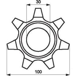Zębatka elewatora Claas Z7-fi30 sferoidal   674143g